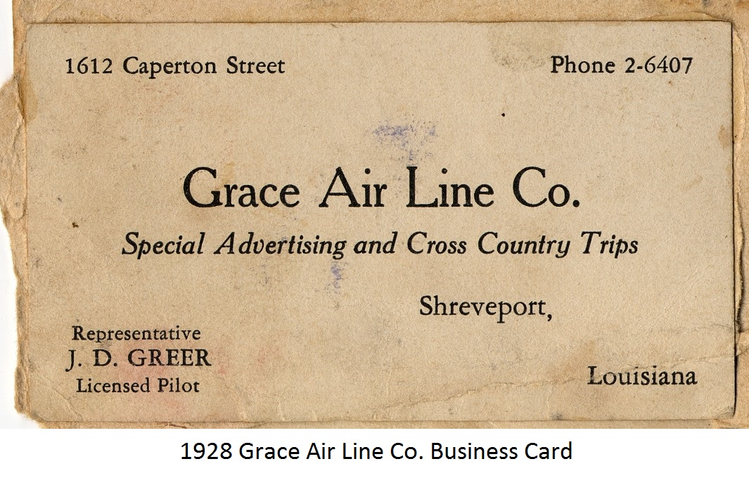 Gallery 52 1928 grace airl lines business cardg reheart Images